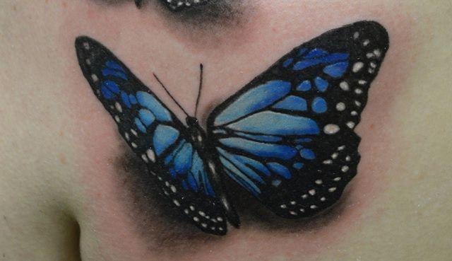 tatouage 3D papillon